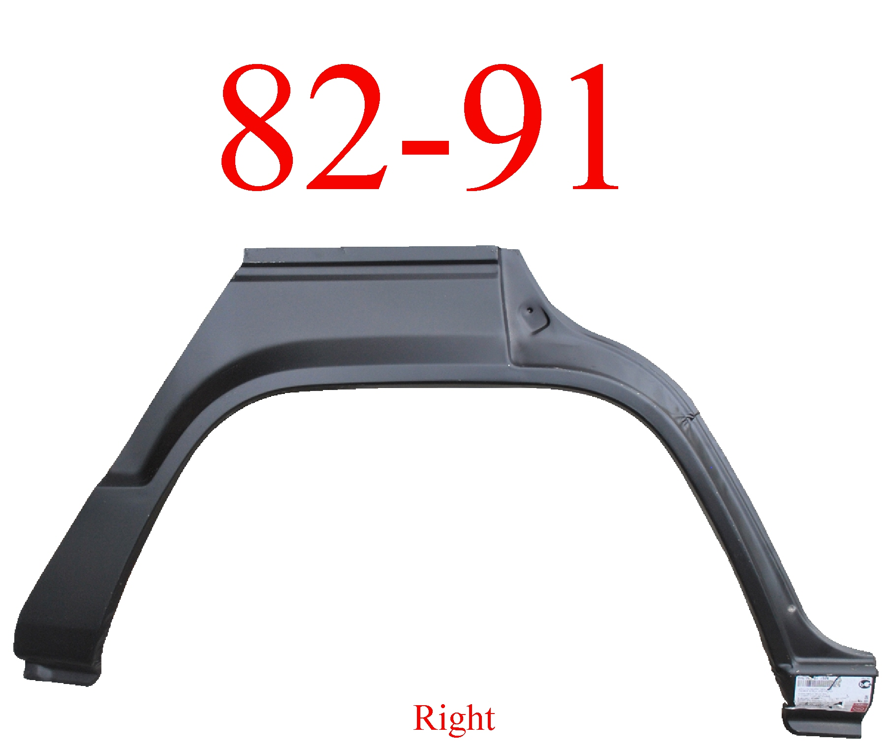 82-91 Mitsubishi Montero 4Dr Right Rear Upper Arch & Dog Leg